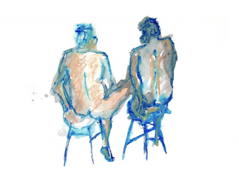 two-men-on-stools-print-a4