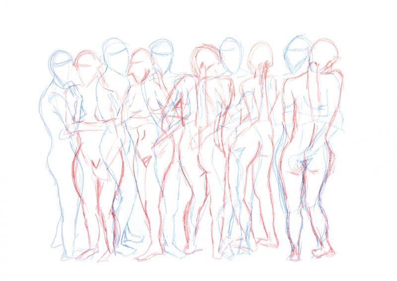 Frieze of figures
